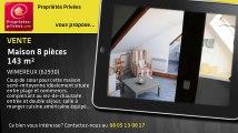 A vendre - maison - WIMEREUX (62930) - 8 pièces - 143m²