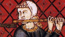 Happy birthday - Free Music Card (medieval musicians playing jazz)