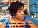 Mini-Twist Hairstyle on Natural Afro Textured Hair