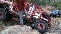 Black Jeep Rubicon off road. Area BFE Moab Easter Jeep Safari Black Jeep JK and Jeep TJ run.