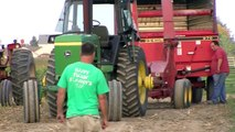 Corn silage harvest 2009, John Deere 4440 with a New Holland 900 chopper
