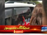 Who Will Sit With Reham, Hot Words Exchanged Between Naz Baloch & President PTI Women Wing Sindh - Brave Hd Zone