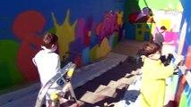 Des enfants ont graffé un sous-voie à Corcelles - Neuchâtel