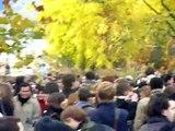 Blocage de l'université de Nanterre arrivée des crs en masse