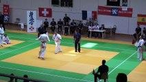 Open International de Lyon 2013 - Karaté Kyokushinkai - Sébastien RUATTI VS Sergio CASTANHEIRA