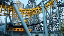 Chinese Deja Vu Offride Roller Coaster Footage Inverted Boomerang Jin Jiang Action Park China