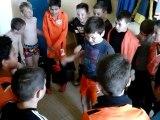 Victoire des U11 a 4- 0 et U11 c 6-3 contre Val d'Izé. La fête ensuite dans les vestaires