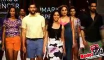 Launches of Marks & Spencer's SS 2015 Collection   Yami Gautam, Gauhar Khan, Dino Morea.3gp