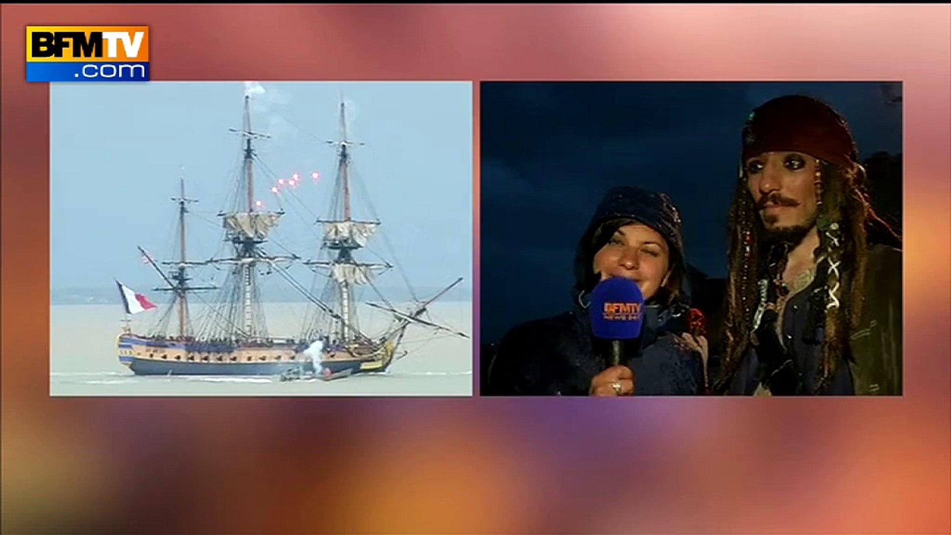 Jack Sparrow à Fouras pour le départ de l'Hermione