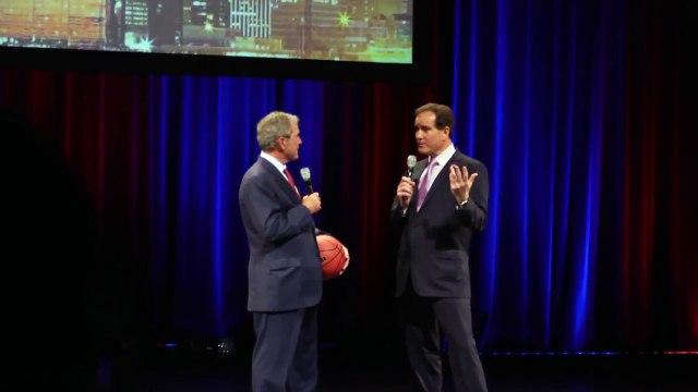 Wisconsin's Zach Bohannon Meets George W. Bush