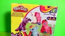 New Play Doh My Little Pony Make 'N Style Ponies Twilight Sparkle, Rainbow Dash, Pinkie Pie MLP 2015