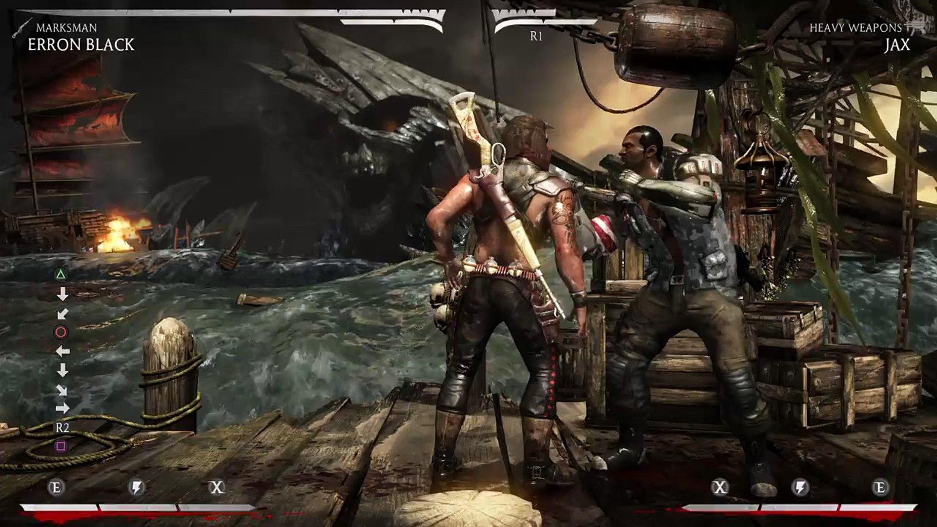 Mortal Kombat x Erron Black sniper ace combo