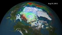 Disappearing Arctic Sea Ice - Melting Polar Ice Cap   Earth Science Footage Video