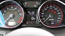 Driving an Audi R8 V10 5.2 FSI on German Autobahn - Topspeed: 330 km/h