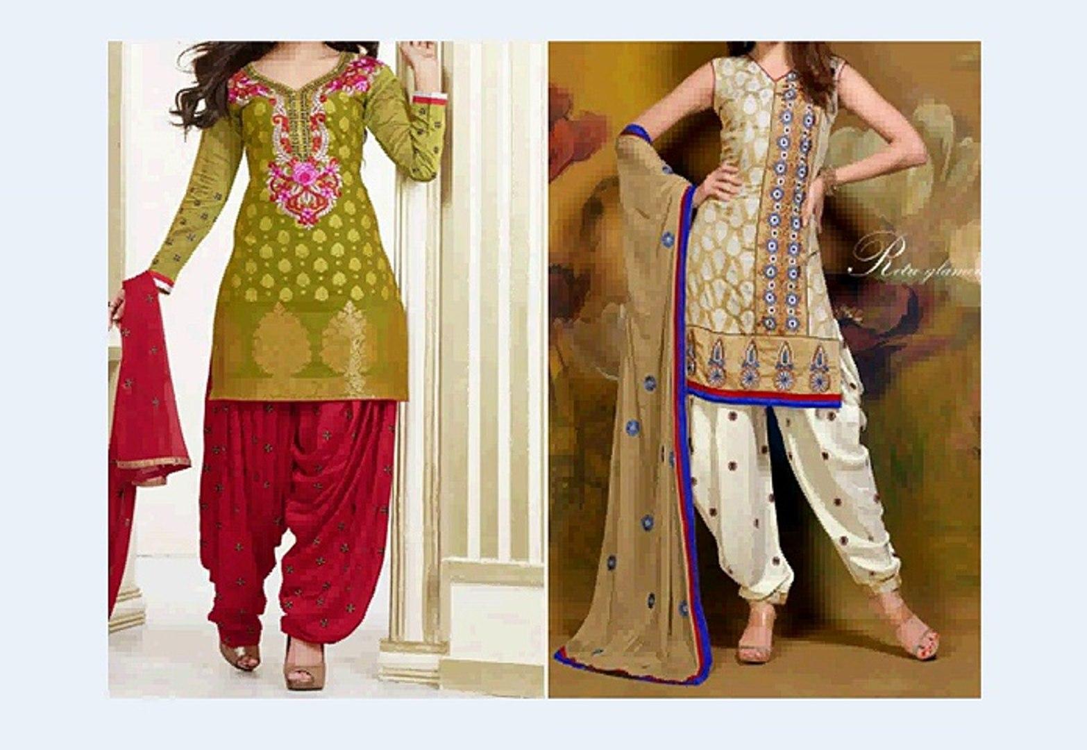 Indian Patiala Salwar Suit Cutting Tutorial