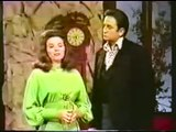 "june carter and johnny cash on ""the Johnny Cash show"""