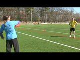 Freestyle Frisbee Stretches, Backhand & Forehand Throws : Freestyle Frisbee Throwing With Spin