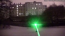 1000mW blue laser beams in falling snow + green laser beam * lightsaber?     IMG *