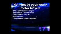 Homemade open crank motor bicycle