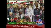 Guard of honour was presented to Chinese president on his arrival to Pakistan