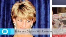 Princess Diana's Will Revealed