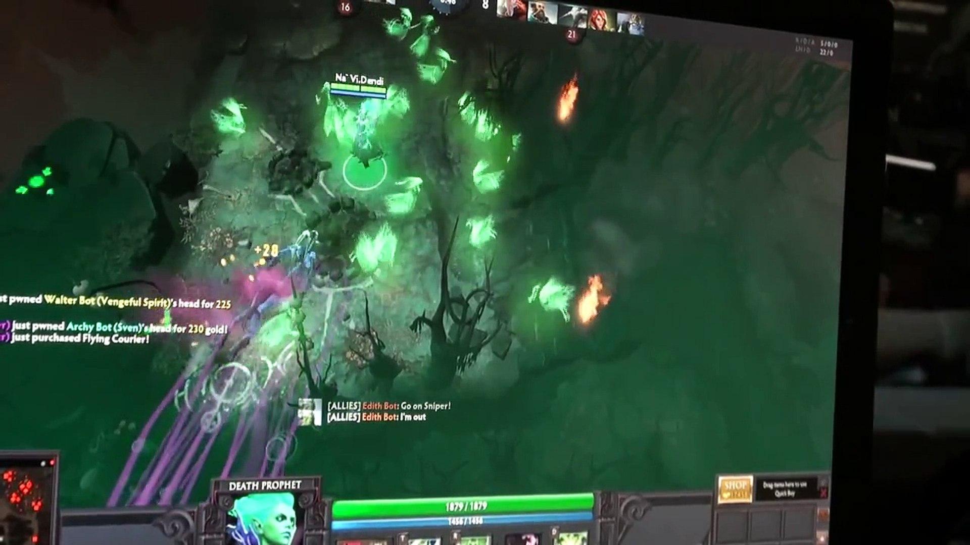 Dendi Testing Death Prophet Star 2 Dota Championship Video