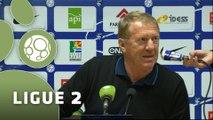 Conférence de presse Havre AC - Stade Brestois 29 (1-1) : Thierry GOUDET (HAC) - Alex  DUPONT (SB29) - 2014/2015