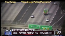 CHP & San Diego Police Pursuit - HOT STOP on Northbound 805