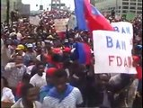 25 years Ago Tens of thousands of haitian demonstrators swarmed across the Brooklyn Bridge.
