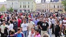 24.08.2013 Ostrava DSSS,NOP, Skinheads protiromska demonstrace, czech+polish hooligans vs. Policie