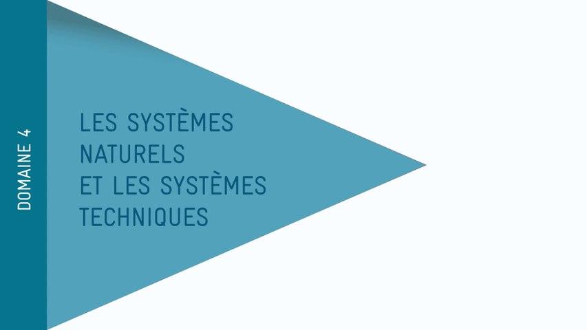 Nouveau Socle - Domaine 4 : Les systèmes naturels et les systèmes techniques