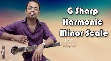 How To Play - G Sharp Harmonic Minor Scale - Guitar Lesson For Beginners