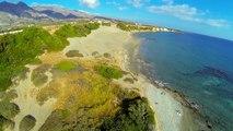 Aerial video of Orthi Ammos beach in Frangokastello, Dji Phantom + GoPro.
