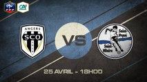 Samedi 25 avril à 18h00 -  Angers SCO (B) - St-Pryvé-St-Hilaire - CFA2 B