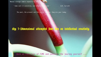 Just Breathe Time - My 3-D Attempted Time Line On Intellectual Creativity