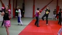 """Kick-Boxing Féminin à l'école Aurillacoise de boxe pieds/poings """"Impact du Dragon"""""""