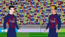 Barcelona VS PSG 2-0 2015 ~ PSG vs Barcelona 0-2 UEFA Champions League Cartoon [HD]