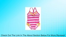 Baby Girls One Piece Ruffle Swimsuit Pink Stripes - UPF 50 Protection Review
