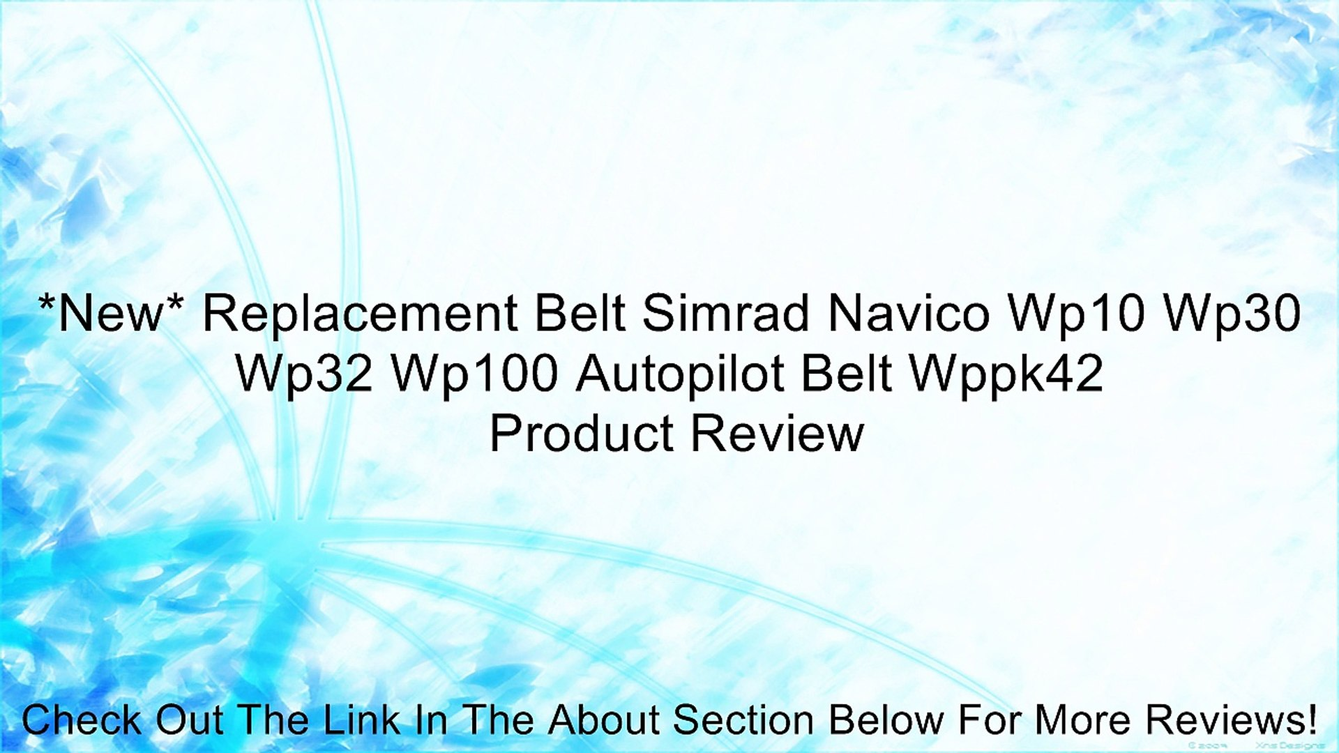 *NEW* REPLACEMENT BELT Simrad NAVICO WP10 WP30 WP32 WP100 Autopilot BELT WPPK42