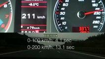 AUDI RS6 MTM 0-315 KM/H (702 PS, TOP SPEED ON GERMAN AUTOBAHN)