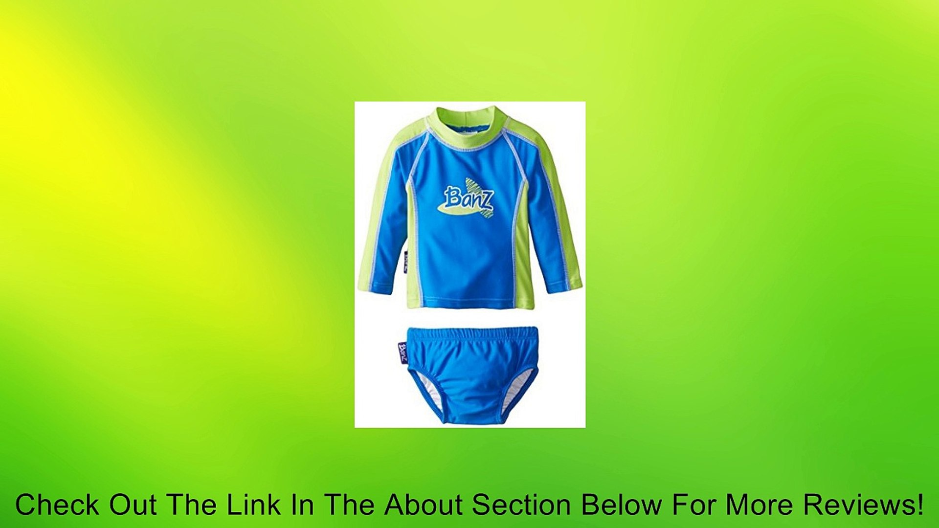 Baby Banz Baby Boys Long Sleeve Rash Guard and Swim Diaper Set