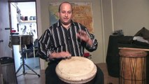 How To Play West African Drums : Playing Slap Sounds on Djembe African Drums