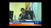 Ministra de salud realiza balance de casos de chikungunya