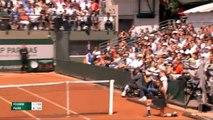 Bagarre à Roland Garros entre spectateurs sur le Court n°7 pendant Fognini-Paire