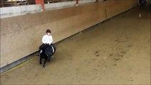 Aubin à son cours d'équitation