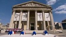 Cérémonie d'hommage solennel de la Nation à P. Brossolette, G. de Gaulle-Anthonioz, G. Tillion et J. Zay