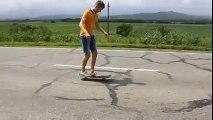 skateboard back flip goes wrong