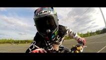 Kawasaki 636 stunt training