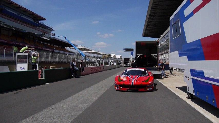 24 Heures du Mans 2015 - installation des teams sur la pitlane