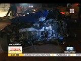Sports car rams post along EDSA; 1 hurt